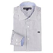 JamesEarl Hombre Cuello Camisero Manga Larga Camisa y blusa Negro - DA162008226