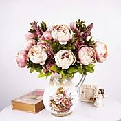 1 ramo peonía peonía artificial flores 8 cabezas flor de seda boda fiesta decoración estilo europeo grande
