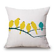 1pc 45 * 45cm birdpattern funda de almohada decoración del hogar