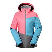 GSOU SNOW 女性用 スキージャケット 防水 保温 防風 抗紫外線 絶縁 透湿性 耐久性 高通気性 スキー ウィンタースポーツ ポリエステル