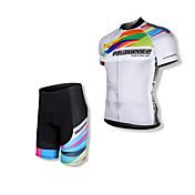 SPAKCT Maillot de Ciclismo con Shorts Hombre Manga Corta Bicicleta Camiseta/Maillot Shorts/Malla corta Sets de Prendas Secado rápido