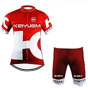 Maillot de Ciclismo con Shorts Unisex Manga Corta Bicicleta Camiseta/Maillot Shorts/Malla corta Sets de Prendas Impermeable Secado rápido