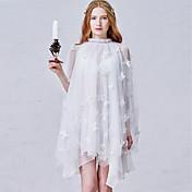 Corte en A Cuello Alto Corta / Mini Tul Fiesta de Cóctel Vestido con Apliques Encaje por Shang Shang Xi