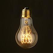 40w 2700k vintage edison bombilla a19 estilo antiguo filamento bombillas incandescentes medio (ac220-240v)