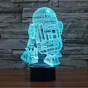ロボットタッチ調光3d led夜の光7colorful装飾雰囲気のランプノベルティ照明ライト