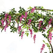 1 1 Ramo Seda Violeta Guirlandas & Flor de Parede Flores artificiais 200CM
