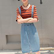 婦人向け ストリートファッション 膝丈 スカート,コットン 伸縮性なし