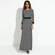 女性用 シフト ドレス - プリント マキシ