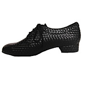 Hombre Moderno Zapatos de Swing Semicuero Tacones Alto Principiante Profesional Cordones Tacón Bajo Negro Azul Oscuro Rojo Azul Gris