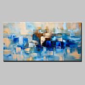 Pintada a mano Abstracto Horizontal,Modern Un Panel Lienzos Pintura al óleo pintada a colgar For Decoración hogareña