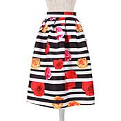 女性用 キュート Aライン スカート - フラワー