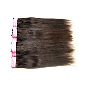 人毛 ブラジリアンヘア 人間の髪編む ストレート ヘアエクステンション 1個 ブラック