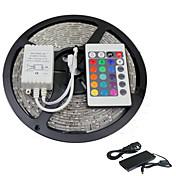 5m RGB SMD5050 300leds llevó franja de luz 24 alejado de la llave&5a potencia (12V CC)