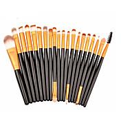 20pcs Pinceles de maquillaje Profesional Sistemas de cepillo / Cepillo para Colorete / Pincel para Sombra de Ojos Pelo Sintético / Pincel