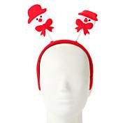 1 PCのスポンジ雪だるまのデザインヘアフープクリスマスオーナメントのパーティーの供給