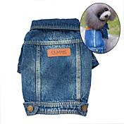 Perro Chaquetas Vaqueras Ropa para Perro Bonito vaquero Moda Vaqueros Azul Disfraz Para mascotas