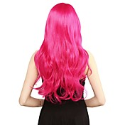 Ženy Růžová Kudrnaté Střih Bob Umělé vlasy Cosplay paruka paruky