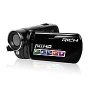 zoom digital 12x rico videocámara full HD 720p / 1080p negro