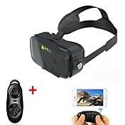 vr negro 3d glasse realidad virtual VR auricular bobo de 4.7 a 6.2 pulgadas teléfono inteligente con el gamepad