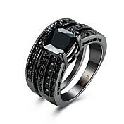 女性 指輪 キュービックジルコニア 高級ジュエリー スチール イミテーションダイヤモンド スクエア 幾何学形 ジュエリー 用途 カジュアル