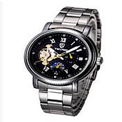 Tevise Hombre Mujer Pareja Reloj Deportivo Reloj Esqueleto Reloj de Moda El reloj mecánico Cuarzo Cuerda AutomáticaCalendario Resistente