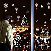 クリスマス / カートゥン / ホリデー ウォールステッカー プレーン・ウォールステッカー 飾りウォールステッカー / ウェディングステッカー,PVC 材料 取り外し可 / 再利用可 ホームデコレーション ウォールステッカー・壁用シール
