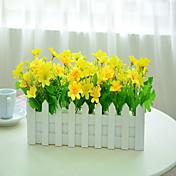 1 Rama Plástico Otros Orquídea Flor de Mesa Flores Artificiales
