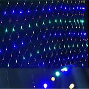 redes de luzes LED das luzes de Natal tomada colorida impermeável lâmpada de 1.5 * 1.5 M96