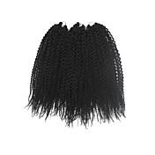 Tranças Crochet pré-laço torção ilha fibra sintética Preto Extensões de cabelo 40cm Tranças de cabelo
