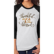 AliexpressのeBayの爆発モデルの感謝の祝福の矢印は、カジュアルなTシャツを印刷します
