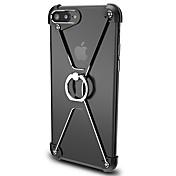 のために バンカーリング ケース バンパー ケース ソリッドカラー ハード アルミニウム のために Apple iPhone 7プラス / iPhone 7