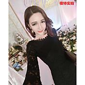 *スリムの韓国語バージョンは、薄いセクシーなレースのドレス底入れドレスパッケージヒップフィッシュテールスカートでした