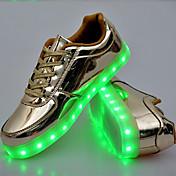 ユニセックス-アウトドア カジュアル アスレチック-PUレザーコンフォートシューズ アイデア 靴を点灯-アスレチック・シューズ-ゴールド シルバー