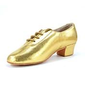 Hombre Latino Jazz Zapatillas de Baile Moderno Zapatos de Swing Salsa Brillantina Semicuero Tacones Alto Entrenamiento Principiante