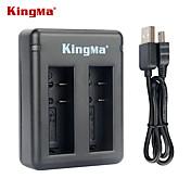小米科技xiaoyiとaz16-1電池のkingmaのbm037デュアルスロットバッテリ充電器--black
