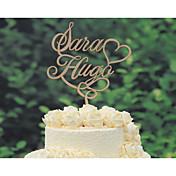 ケーキトッパー あり 夫妻 クロム 結婚式 記念日 イエロー クラシックテーマ ヴィンテージテーマ 素朴なテーマ 1 ポリバッグ