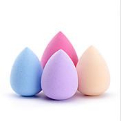 Las gotitas de agua 4pcs soplan multicolor 34x46m m la belleza caliente maquillaje esponja esponja soplo soplo color al azar