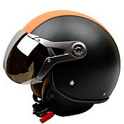 anti-vaho casco transpirable mitad GXT g-288 casco de la motocicleta de la fuerza aérea del casco retro casco liebre