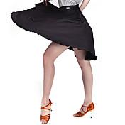 Baile Latino Pantalones y Faldas Mujer Entrenamiento Terciopelo Fibra de Leche 1 Pieza Cintura Media Falda