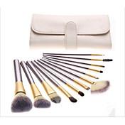 12Pincel Abanico Cepillo para Polvos Cepillo para Base Contour Brush Sistemas de cepillo Cepillo para Colorete Pincel para Sombra de Ojos