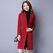 長い段落韓国緩い長袖のセーターショールドレス乗る女の子の外ニットカーディガンジャケットにサイン