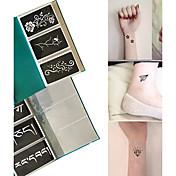 other-Tatuajes con Brillantina-Non Toxic Modelo-Plantillas para Tatuajes de Purpurina- paraAdulto-Negro-Papel