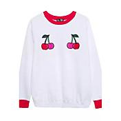 長袖ラウンドネック刺繍セーターをヘッジ緩い女性の2016新しい冬の長いセクションに署名