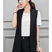 符号2017韓国は薄いノースリーブのベストのベストの春のジャケットと長いセクションピースパンツでした