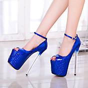 Mujer-Tacón Stiletto-Zapatos del club-Tacones-Fiesta y Noche-PU-Negro Azul Oro