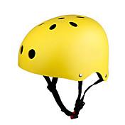 KUYOU Casco Protector para Patinete, Monopatín y Patines Niños Casco CE Certificación Respirante Ajustable One Piece Montaña Protector