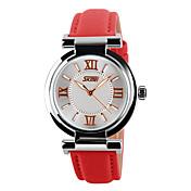 Hombre Reloj de Pulsera Reloj Esqueleto Reloj de Vestir Reloj de Moda Reloj Deportivo Cuarzo Gran venta Cuero Auténtico Banda Encanto
