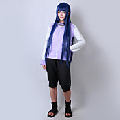 Inspirado por Naruto Hinata Hyuga Animé Disfraces de cosplay Trajes Cosplay Un Color Manga Larga Chaqueta Pantalones cortos Para Hombre