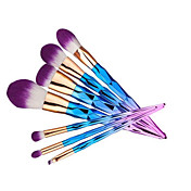 7Sistemas de cepillo Cepillo para Colorete Pincel para Sombra de Ojos Cepillo Corrector Cepillo para Polvos Cepillo para Base Contour