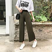 2017 tiro real era pantalones de pantalones vaqueros rectos sueltos delgados pantalones plisados flojos finos de la cintura pantalones